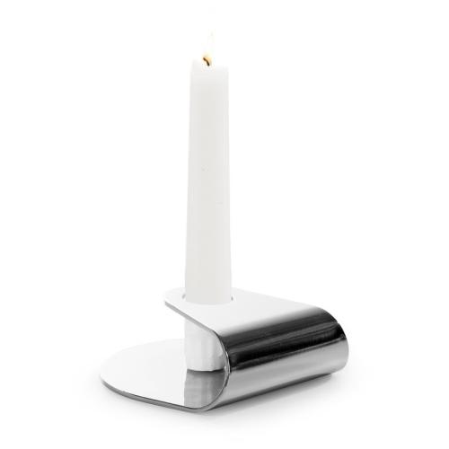 Nightlight Candlestick, Dia10 x 3.8cm, Brushed Steel