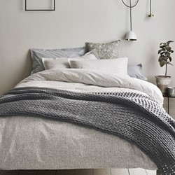 Scribble King size duvet cover, L220 x W230cm, dove grey