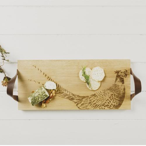 Pheasant Serving tray, L45 x W20 x H2cm, Oak