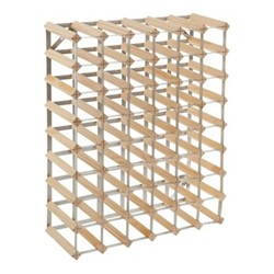 56 bottle wine rack kit, H62 x W81 x D22cm, natural/galvanised steel