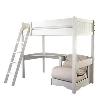 Warwick High-sleeper with futon, L202 x W102 x H177cm, silk white