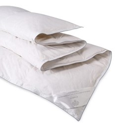 Silver Hungarian Goose Down Double 9 tog duvet, 200 x 200cm