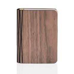 Mini smart book light, L12.2 x W9 x H2.5cm, walnut