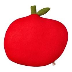 Apple Cushion, L45 x H46cm, red