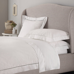 Santorini - 200 Thread Count Cotton Super king duvet cover, W260 x L220cm, White