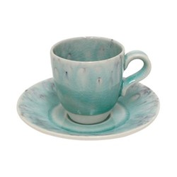 Madeira Set of 6 coffee cups and saucers, 8cl, blue