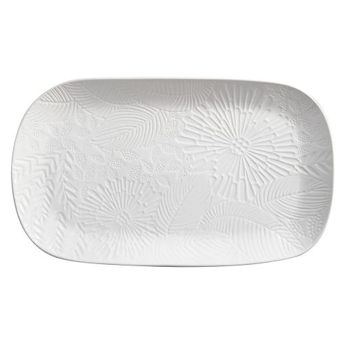 Panama Panama Stoneware Oblong Serving Platter Gift Boxed, White