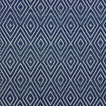 Diamond Polypropylene indoor/outdoor rug, W122 x L183cm, navy/ivory