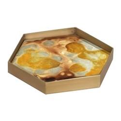 Organic glass tray, W19 x D16 x H3cm, yellow