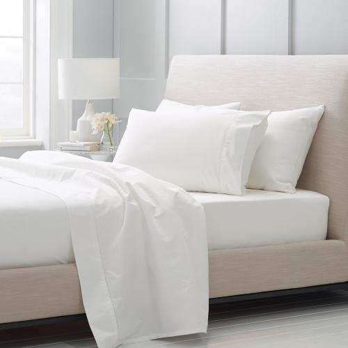 1000TC Cotton Sateen Pair of housewife pillowcases, 50 x 75cm, Snow