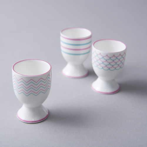 Drift Egg cup, H6.5cm, Pink/Turquoise