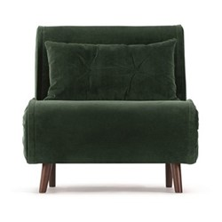 Haru Single sofa bed, H78 x W77 x D86cm, pine green velvet