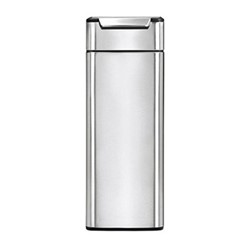 Slim touch bar bin, H71cm - 40 litre, brushed stainless steel