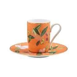 Tresor Fleuri Espresso cup, D8 x H11cm, Orange