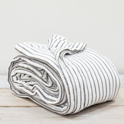 Hikari Throw, W180 x L200cm, grey/white stripe
