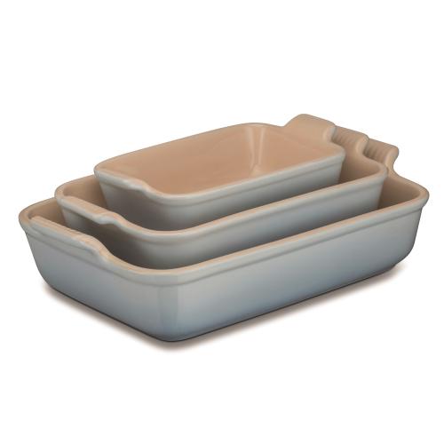 Stoneware Rectangular dish, 32 x 28cm - 3.85 litre, Coastal Blue
