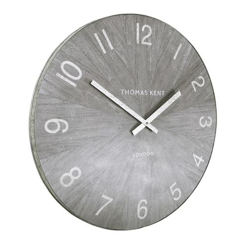 Wharf Limestone Oversized wall clock, 76cm, Grey