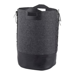 Doran Laundry bin, L40 x W35 x H60cm, dark grey