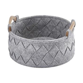 Amy Small storage basket, 33 x 17.5cm - 7L, silver
