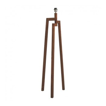 Dylan Wooden floor lamp base, W45 x H134 x D45cm, walnut