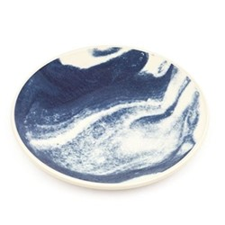 Indigo Storm Platter, D34cm, abstract blue
