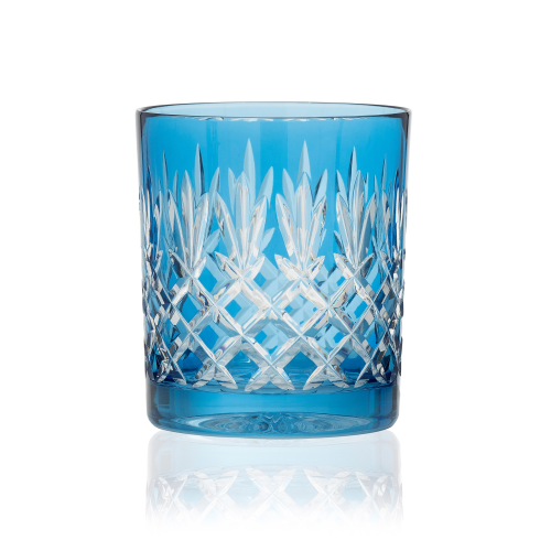 Pineapple Pair of double old fashioned tumblers, 28cl, Sky Blue