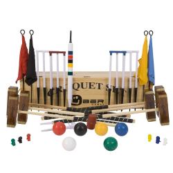 Pro 6 player pro croquet set, Wooden Box
