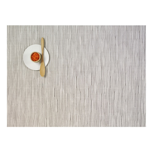Bamboo Set of 4 rectangular placemats, 36 x 48cm, Chalk