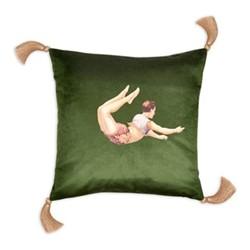 Trapeze Boy Velvet cushion, 45cm, Lush Meadow Green