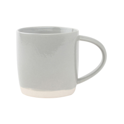 Shell Bisque Set of 4 mugs, 9 x 9cm, grey
