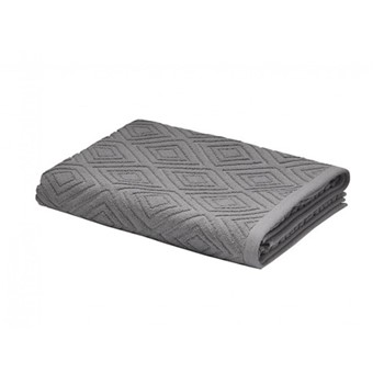 Diamond Sculpture Bath Sheet, 90 x 140cm, charcoal