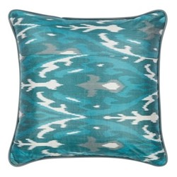 Ikat Cushion, 50 x 50cm, Verdigris/Jade green