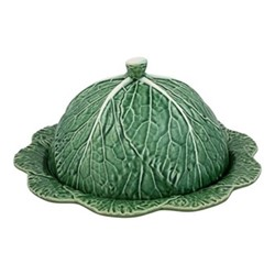 Cabbage Covered cheese platter, 35 x 15cm, green