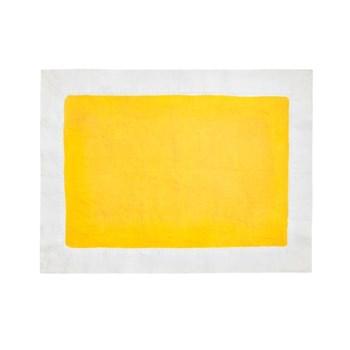 Full Field Linen placemat, lemon yellow