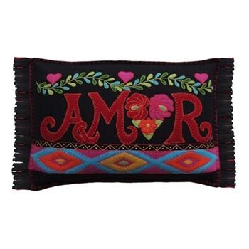 Fiesta Amor Cushion, 48 x 35cm, black