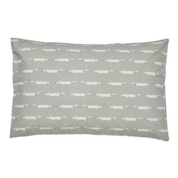 Mr Fox Standard pillowcase, L48 x W74cm, silver