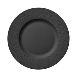 Manufacture Rock Salad plate, D22cm, black