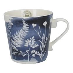 Richmond - Watercolour Meadow Squat mug, H10 - 350ml, navy