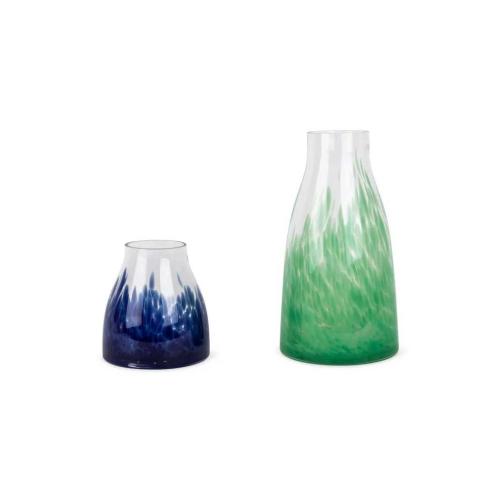 Dapple Small Vase, H17 x W16cm, Blue