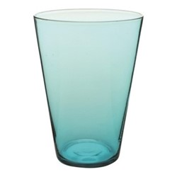 Eau Minerale Set of 4 water glasses, 7.6 x 11.4cm, aqua