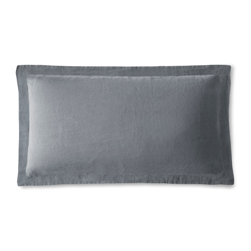 King size Oxford pillowcase, 50 x 90cm, Lens Charcoal