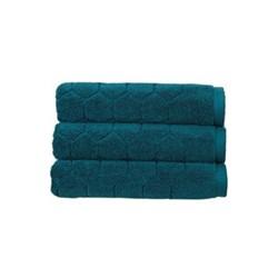 Honeycomb Bath sheet, 90 x 165cm, peacock