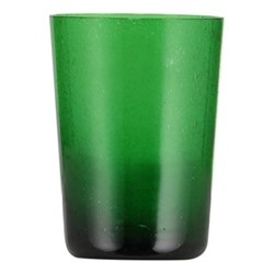 Set of 6 tumblers, H11 x D8cm - 340ml, emerald