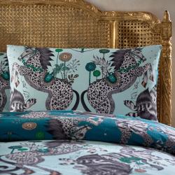 Caspian - 200 Thread Count Pair of standard pillow cases, Aqua/Teal