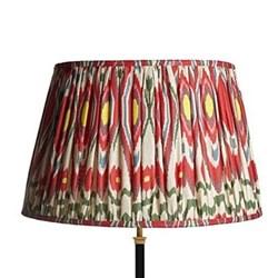 Ikat printed lampshade H34 x D50cm