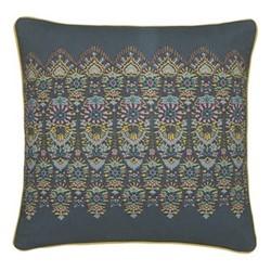 Peony Trail Cushion, L40 x W40cm, blue