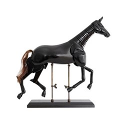 Large artist horse model, H34 x W37 x L8.5cm, honey distressed maple/beech