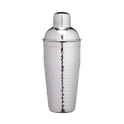 Bar Craft Luxury cocktail shaker, 700ml, hammered metal