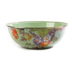Flower Market Bowl, D33.02 x H12.06cm, green