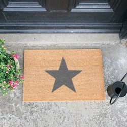 Star Doormat, L60 x W40 x H1.5cm, grey